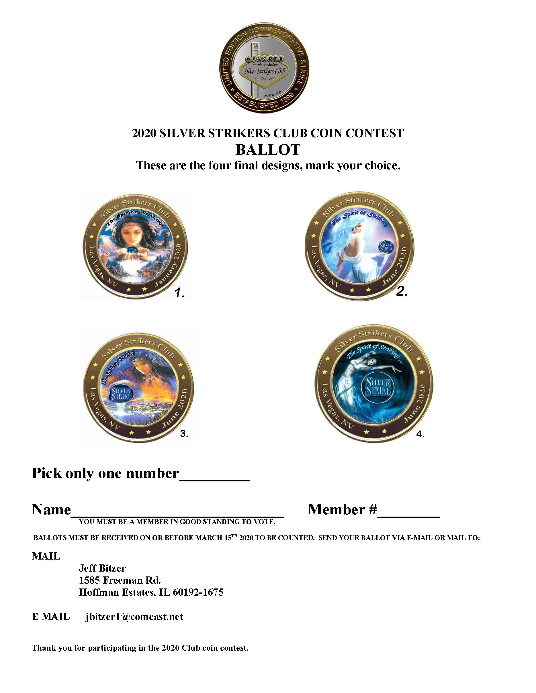 Club Coin Contest Ballot Image 2020 Image
