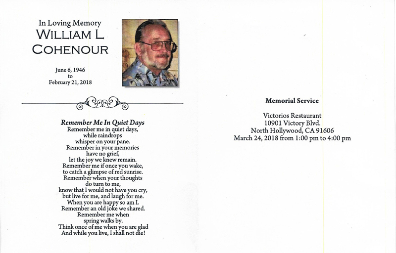 Bill Cohenour Memorial 2 2018 Image